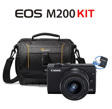 Canon Eos M200 KIT 15-45mm EF IS STM Black + Bolso de Transporte y Memoria 32gb
